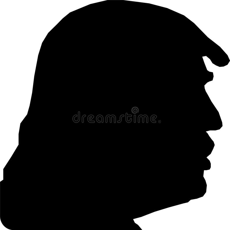 Silhouette of President Trump. SSilhouette of president Trump on a white background vector illustration