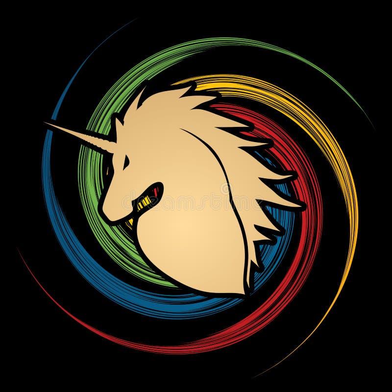 Download Silhouette Principale De Licorne Illustration de Vecteur - Illustration du logo, magie: 87702510