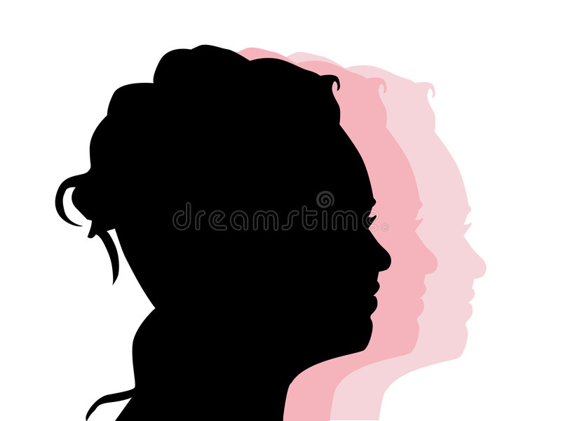 Silhouette of a profile royalty free illustration