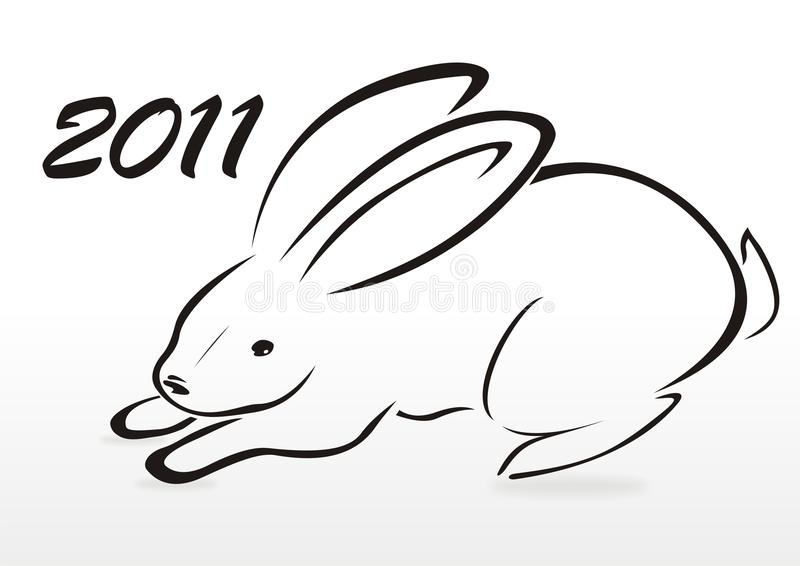 Download Silhouette of rabbit stock vector. Illustration of eastern - 16781957