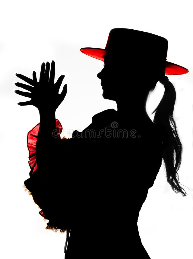 Download Silhouette In Red And Black Stock Photo - Image: 4211864