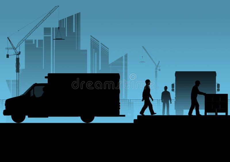 Silhouette Route fermée, courses sur route illustration libre de droits