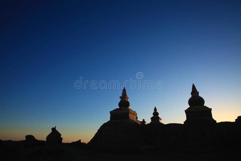 The Silhouette Of The Ruin Royalty Free Stock Images