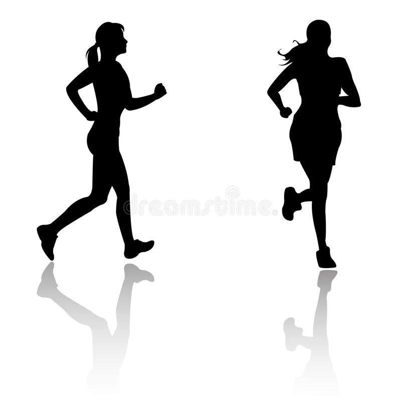 Download Silhouette Run Woman Stock Image - Image: 10774361