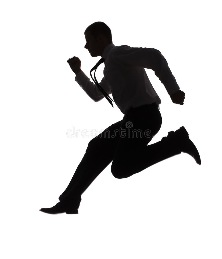 Running Man In Suit Silhouette Running Man In Suit Si...
