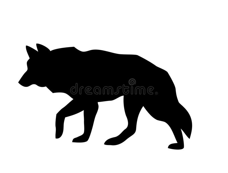 silhouette of a running wolf stock vector illustration of rh dreamstime com wolf vector tattoo wolf vector art