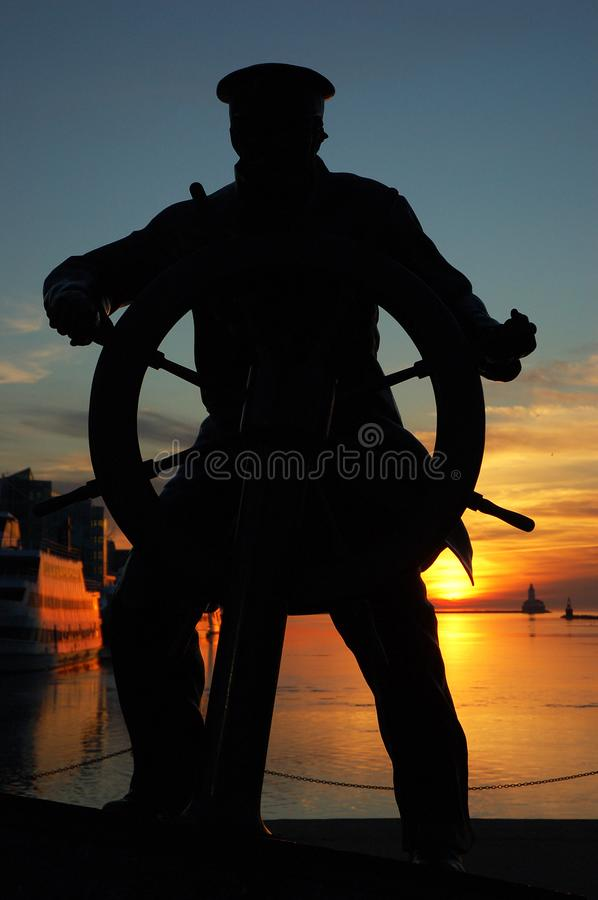 Silhouette of the Sailor`s Memorial, stock photography