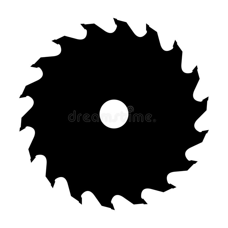 Silhouette of saw blade. For circular saw. Vector illustration royalty free illustration