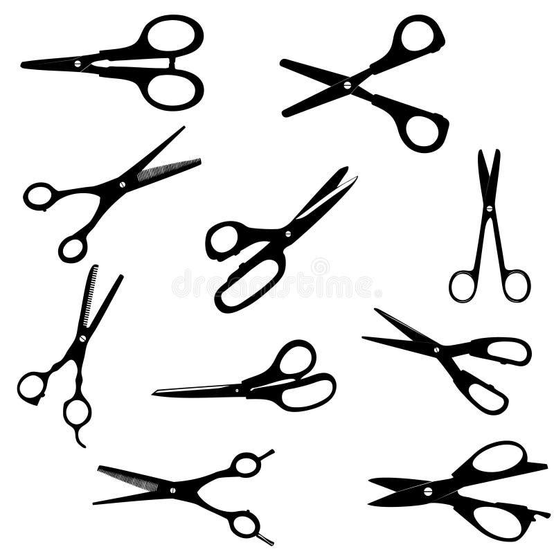 Silhouette Scissors seamless pattern. Vector vector illustration