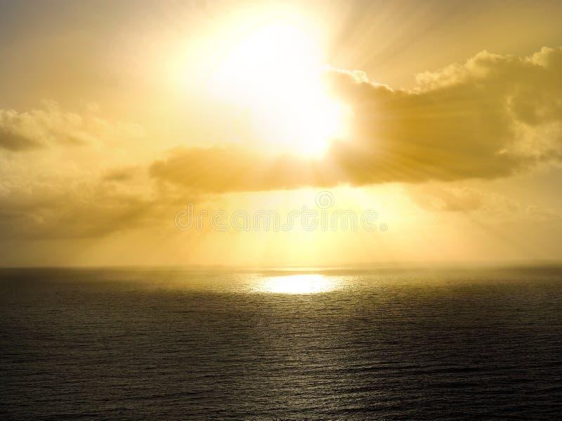 Silhouette of the sea Atlantic Ocean royalty free stock image