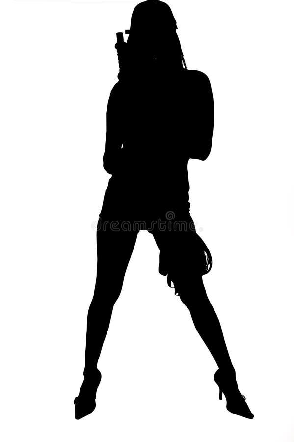 Silhouette sexy d'armée illustration stock