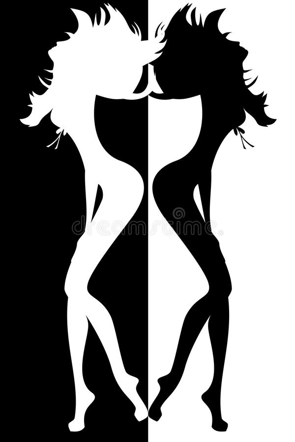 Silhouette Of Women Royalty Free Stock Image