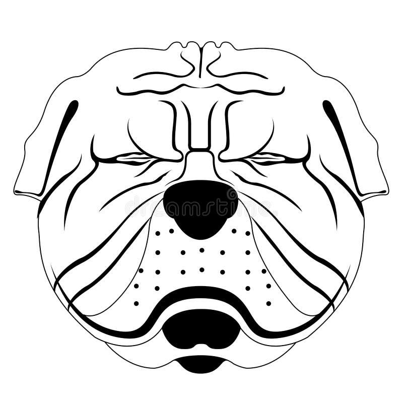 Silhouette of a shar pei avatar vector illustration