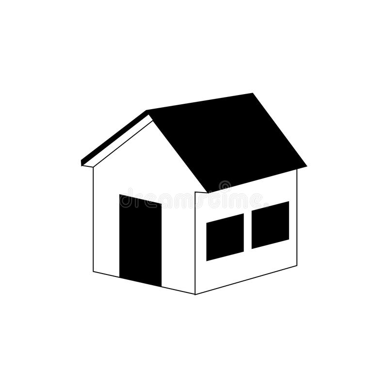 Silhouette side view silhouette house icon vector illustration