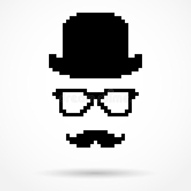 Silhouette simple symbol of Detective stock illustration