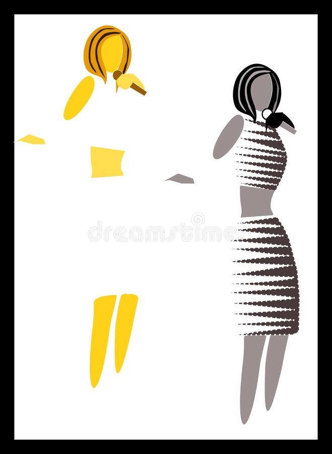 Silhouette of singer performing royalty free stock photo