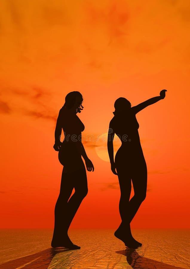 Silhouette, Sky, Orange, Fun royalty free stock photography