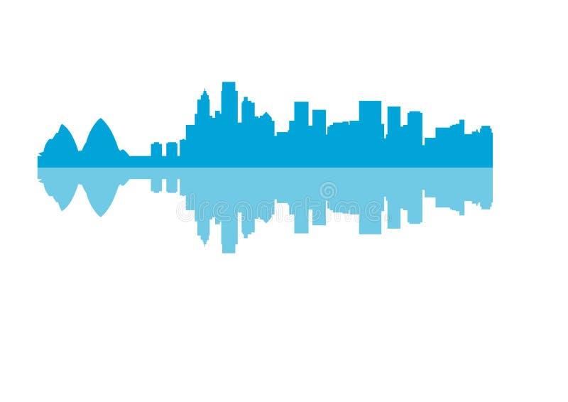 Silhouette of Skyline Sydney City vector illustration