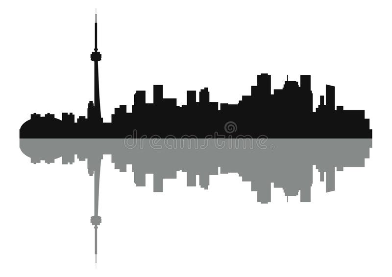 Silhouette of Skyline Toronto City vector illustration