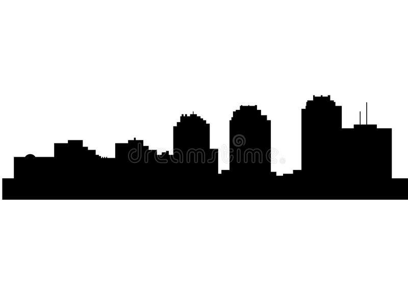 Silhouette of Skyline Zagreb City royalty free illustration