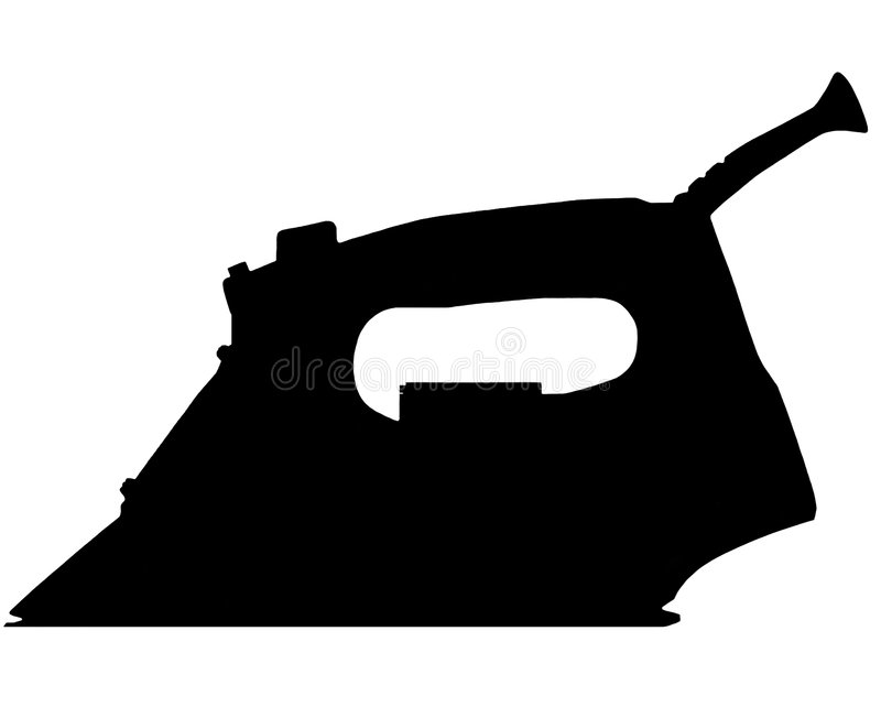 Download Silhouette Of Smoothing Iron Stock Illustration - Image: 4875023