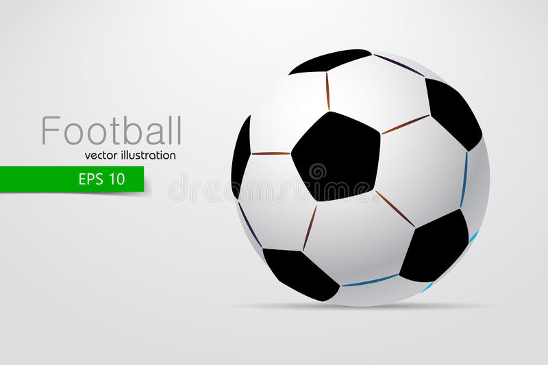 Silhouette of a soccer ball. Text and background on a separate layer, color can be changed in one click royalty free illustration