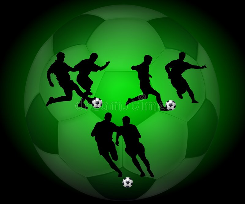 Silhouette Soccer Players Stock Photos