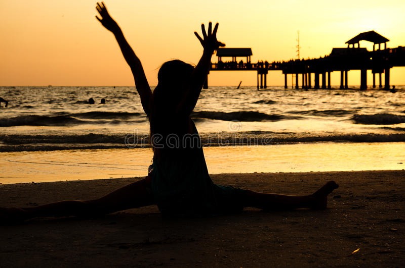 Download Silhouette Split at sunset stock photo. Image of silhouette - 26630608