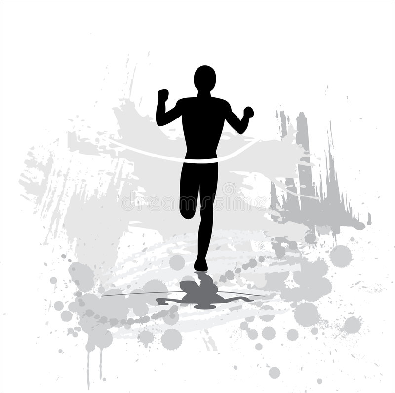 Download Silhouette Of The Sportsman Royalty Free Stock Photo - Image: 9304895