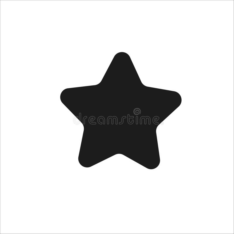 Silhouette of star. Flat style icon royalty free illustration