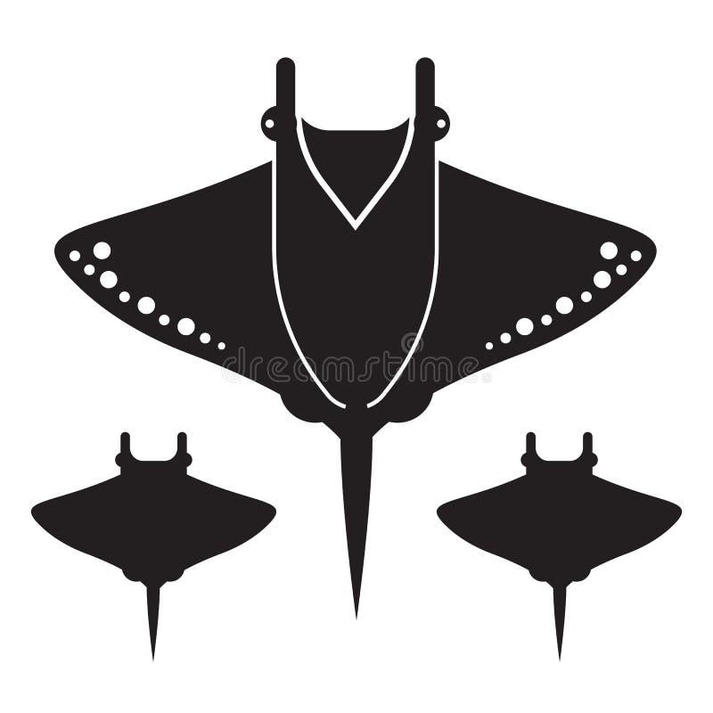 Manta Ray or Stingray Icon or Logo vector illustration