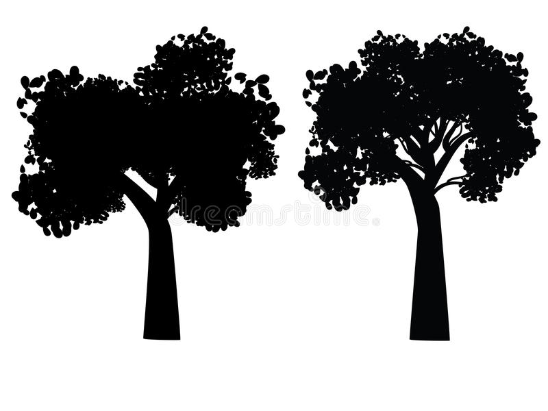 Silhouette stylisée d'arbre illustration de vecteur