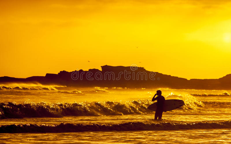 Silhouette Of Surfer At Sunset Free Public Domain Cc0 Image