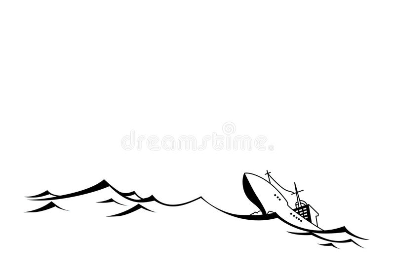 Download Silhouette tanker stock vector. Illustration of drawing - 21863673