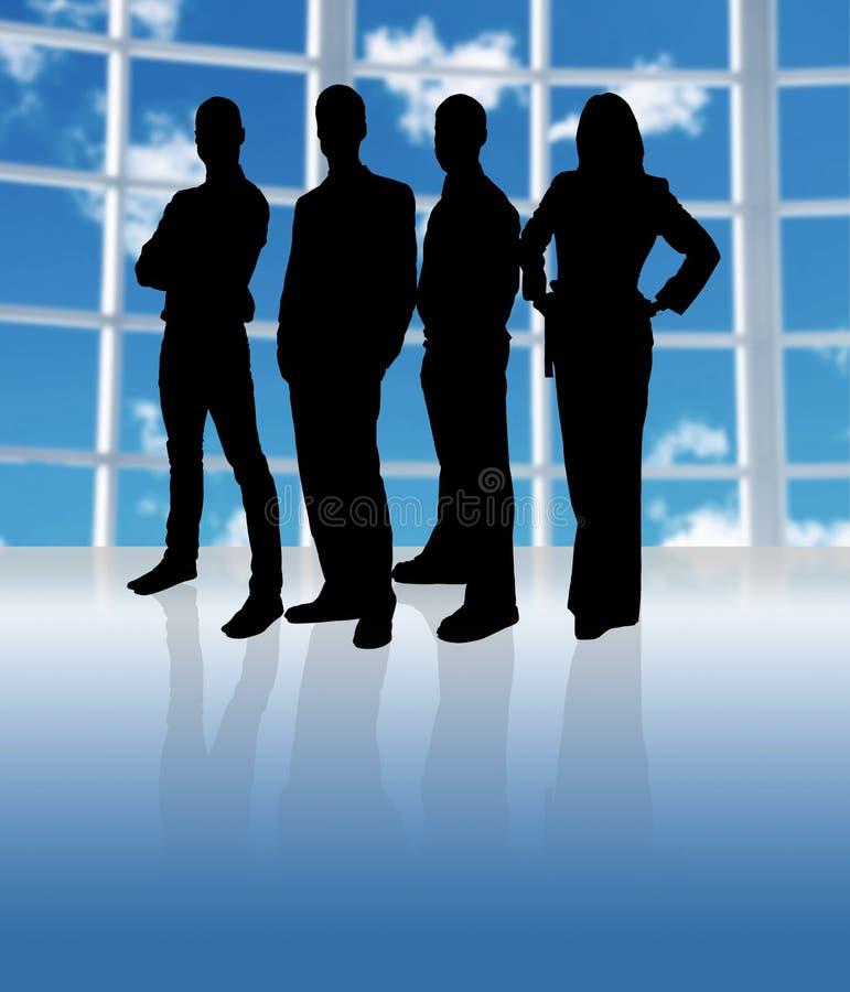 Silhouette Team royalty free illustration