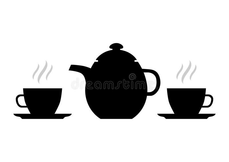 Download Silhouette of teapot stock vector. Image of invite, restaurant - 14590966