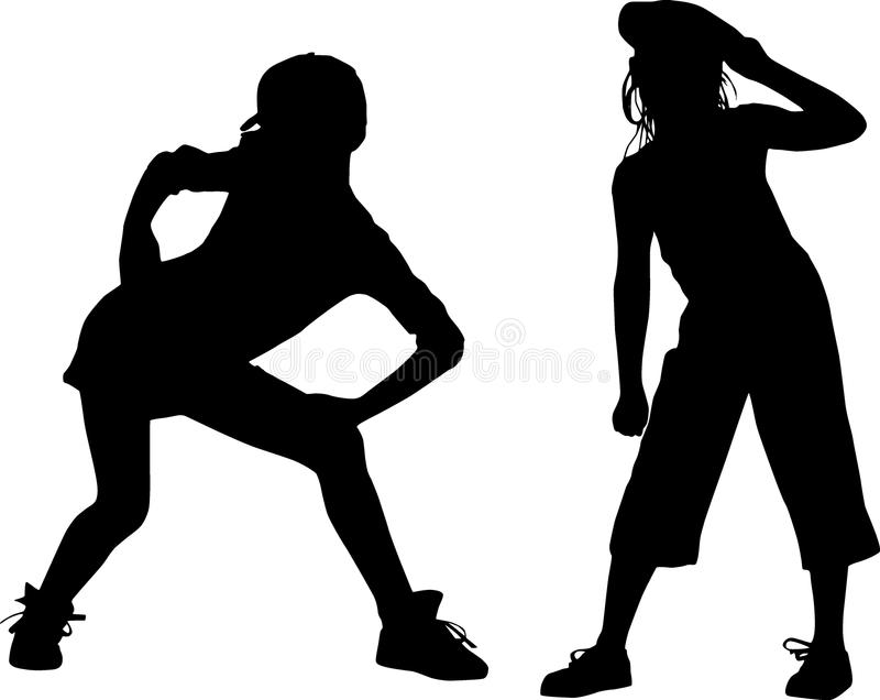 Silhouette teenagers royalty free stock photography