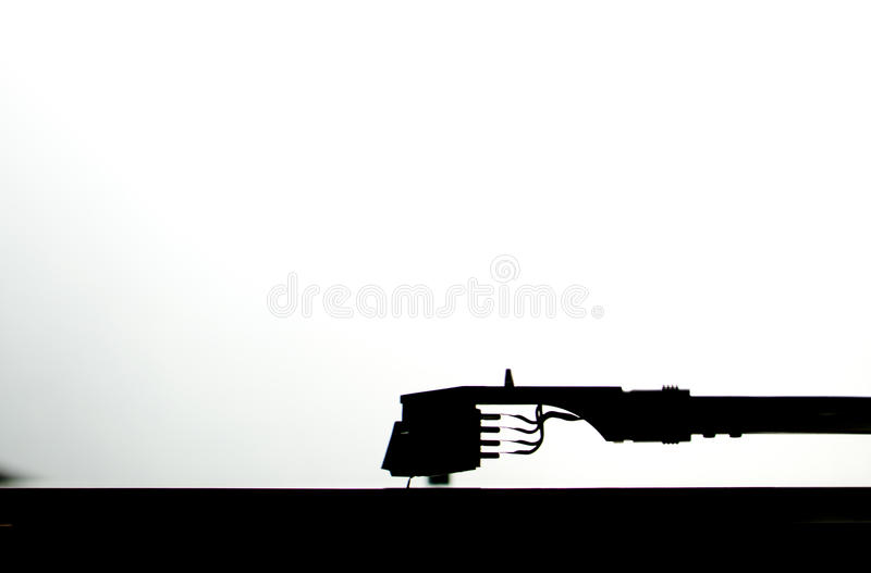 Silhouette tonearm royalty free stock images