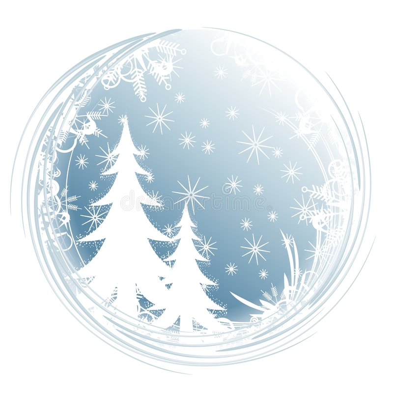 Download Silhouette Tree Snowflakes stock illustration. Image of circle - 3598655