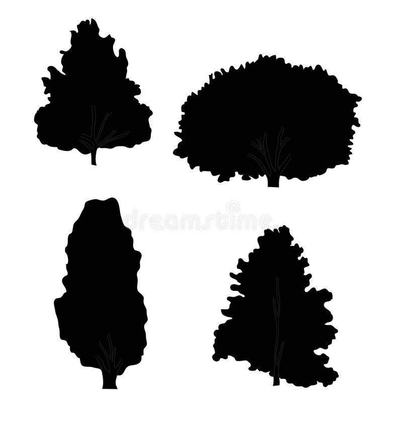 Silhouette of trees royalty free stock images