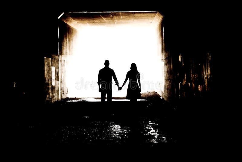 silhouette tunel zdjęcia stock