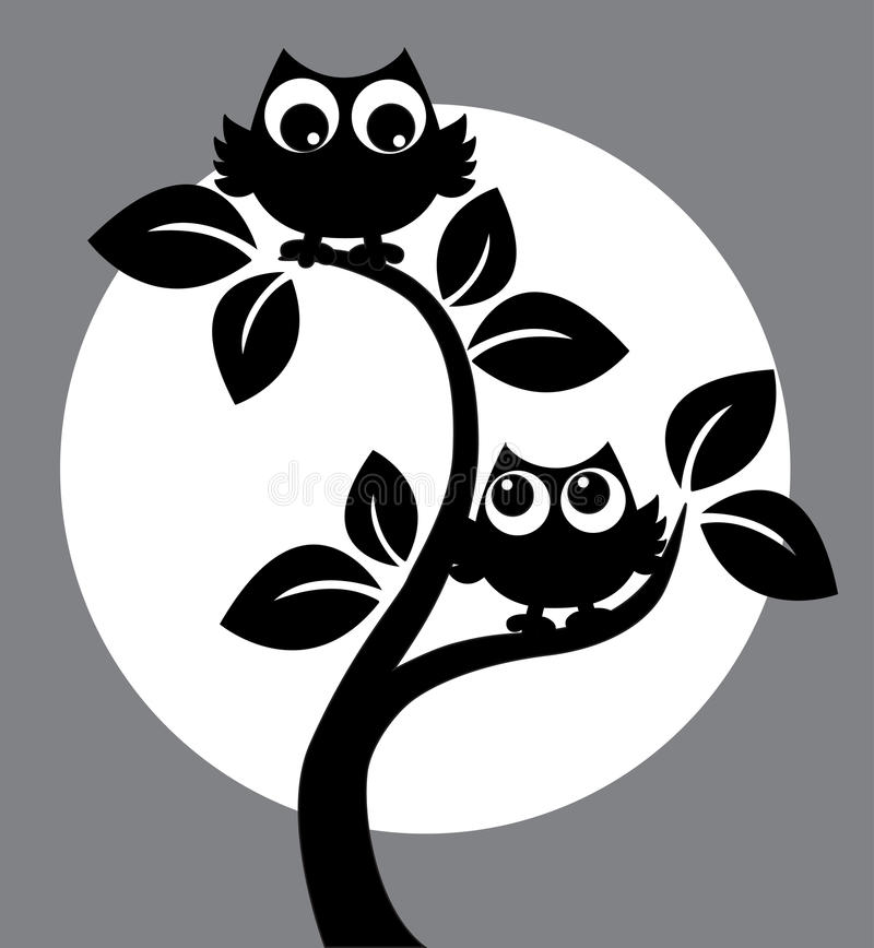 silhouette of two black owls in a tree stock vector cute owl clip art black and white cute owl clip art black and white