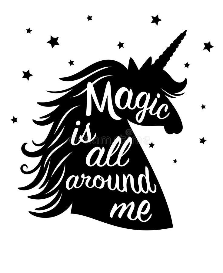 Black unicorn silhouettes stock vector  Illustration of color