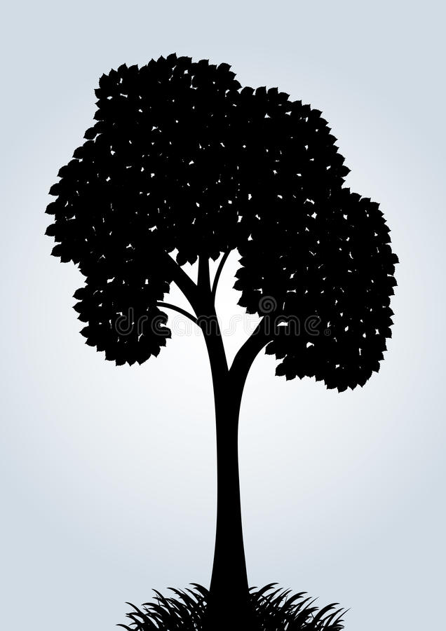 Download Silhouette Of A Vector Tree Stock Vector - Illustration: 19513721
