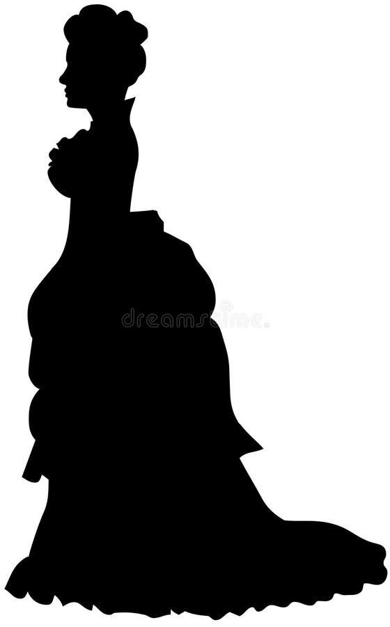 Silhouette victorienne illustration de vecteur