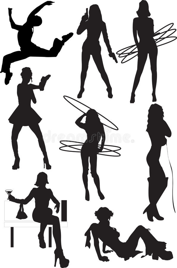 Download Silhouette View Of Human Motifs, Positions, Moves Stock Photos - Image: 11344403
