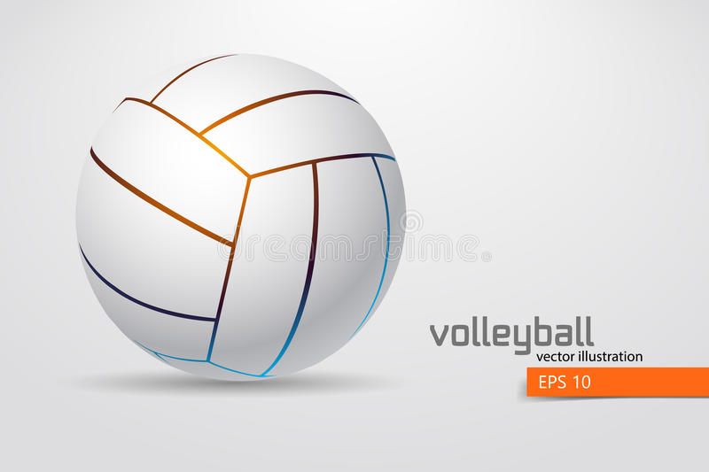 Silhouette of volleyball ball. Background and text on a separate layer, color can be changed in one click. Vector illustration