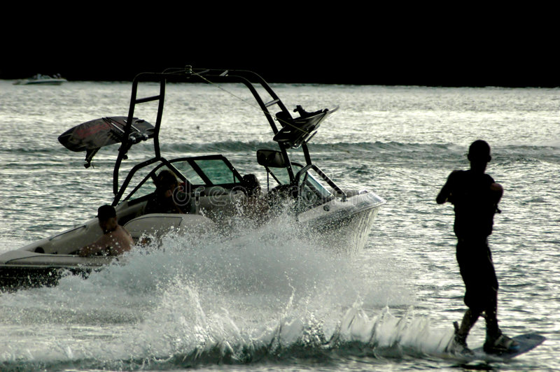 silhouette wakeboard стоковые фотографии rf