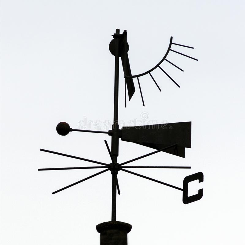 Silhouette of wind vane royalty free stock images