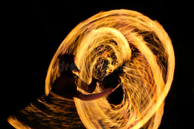 woman against a background of fire royalty free stock photo